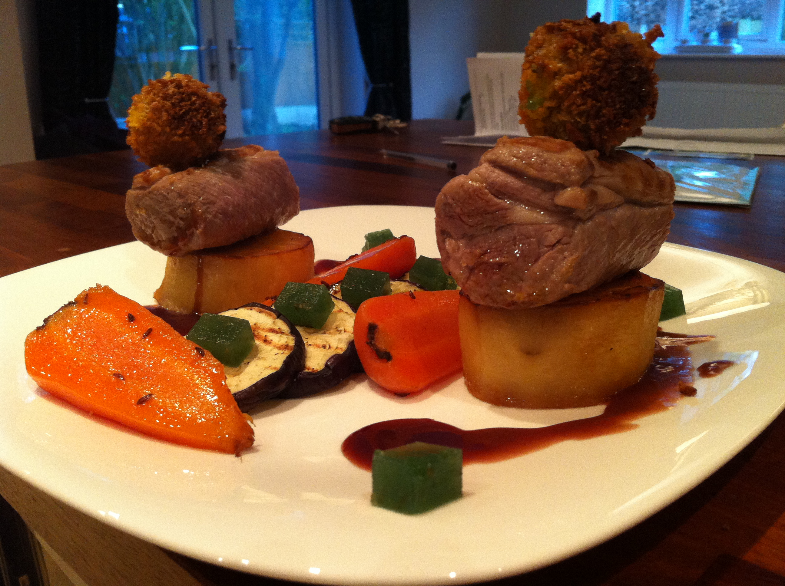Posh Roast Lamb Dinner