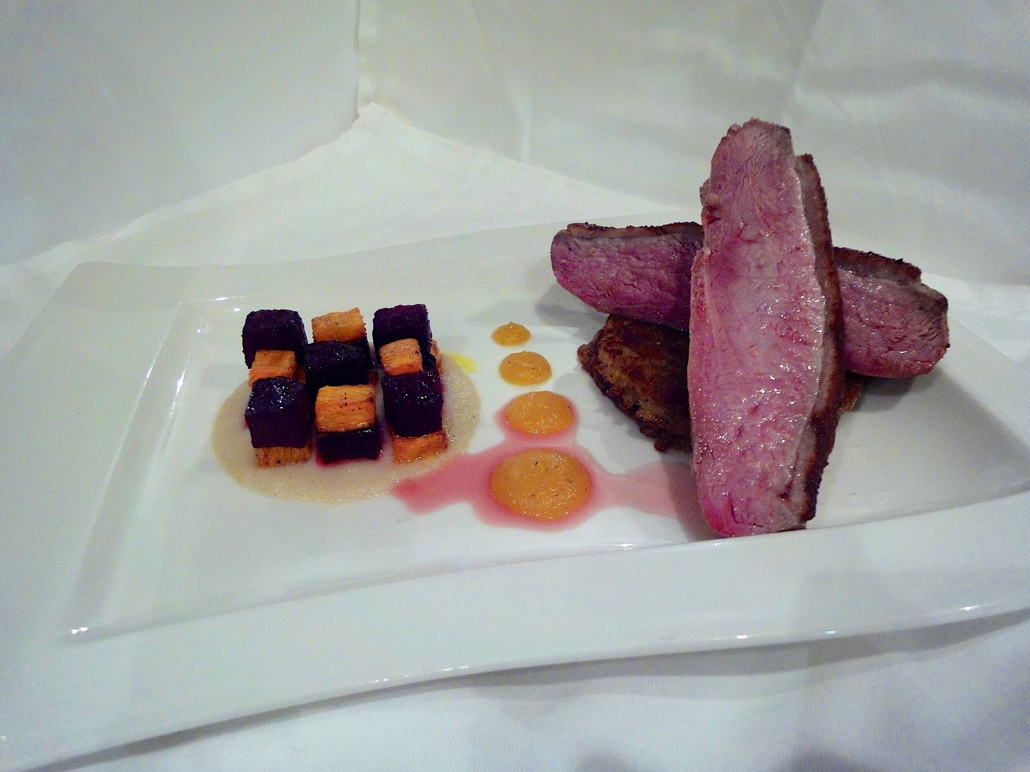 Roast Duck with a Spiced Apricot Compote.