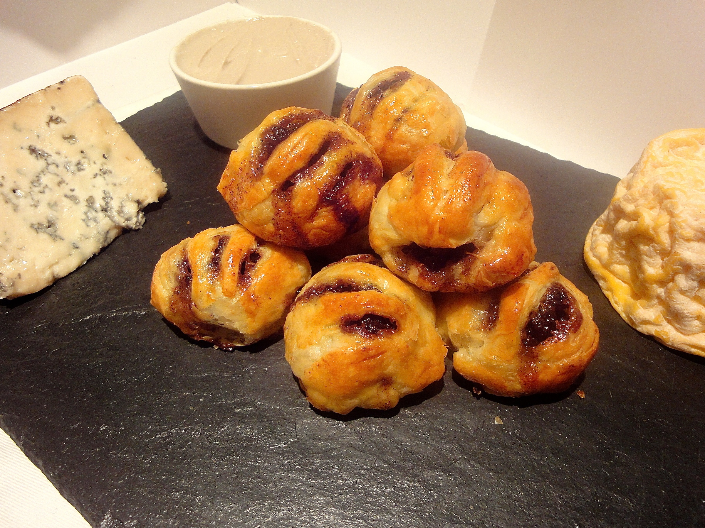 Eccles Cakes and Potted Stilton.