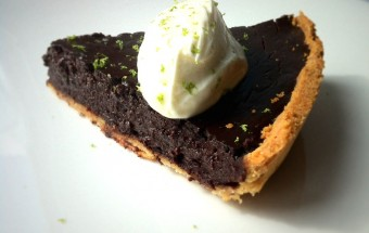 Salted Chocolate and Lime Tart|Fine DIning at Home.