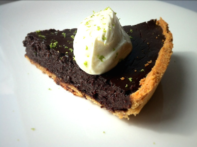 Salted Chocolate and Lime Tart.
