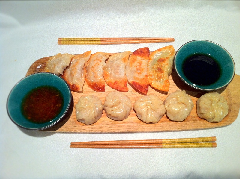 Dim Sum and Gyozas.