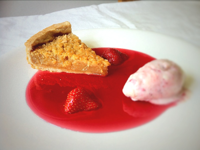 Treacle Tart And Strawberry Cheesecake Ice Cream Fine Dining Recipes Food Blog Restaurant Reviews Fine Dining At Home