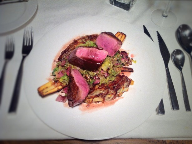 Duck with sprouts and rosti