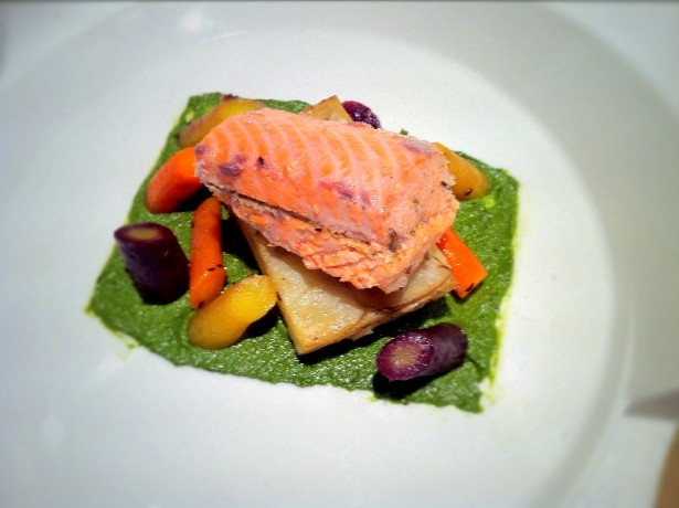 Salt Baked salmon with fennel pollen