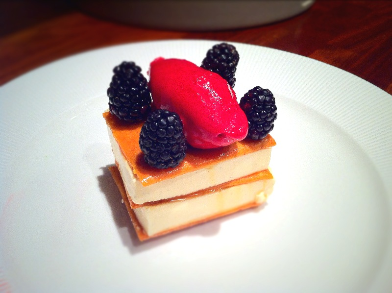Buttermilk Panna Cotta and Honeycomb Sandwich.