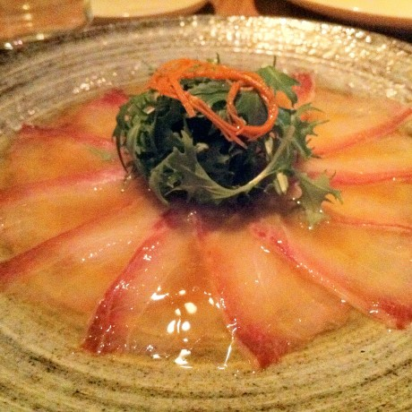 Yellowfin tuna with yuzu dressing