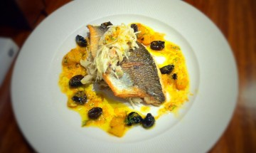 Sea Bream with fennel coleslaw