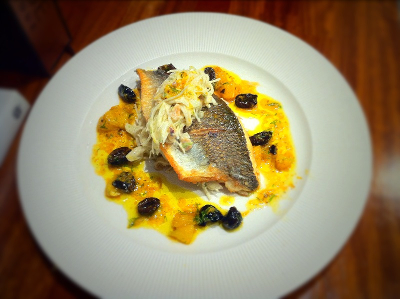 Sea Bream, Fennel Coleslaw and a Dill Orange Sauce