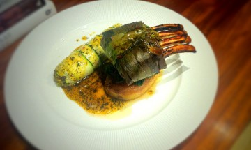 Pandan lamb with Courgette Cannelloni