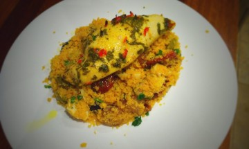 Chilli and Lemon CHicken with polenta couscous