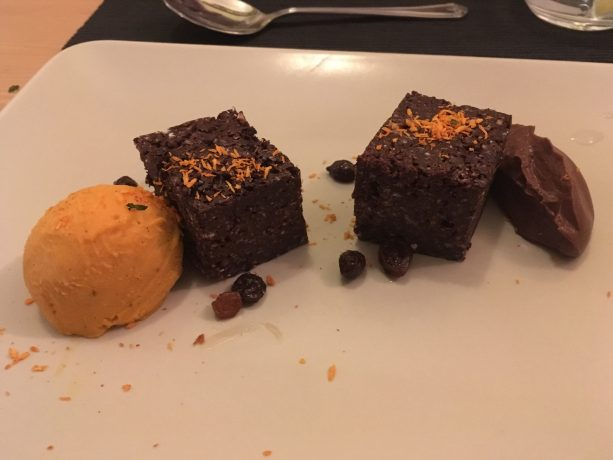 chocolate and buckwheat brownie, sweet potato brownie