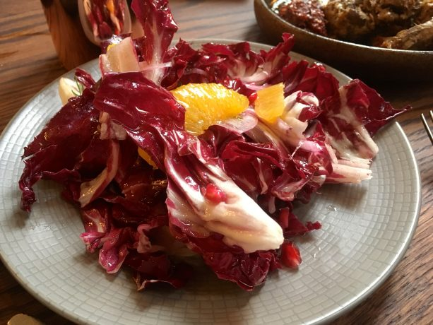 Radicchio, orange, pomegranate