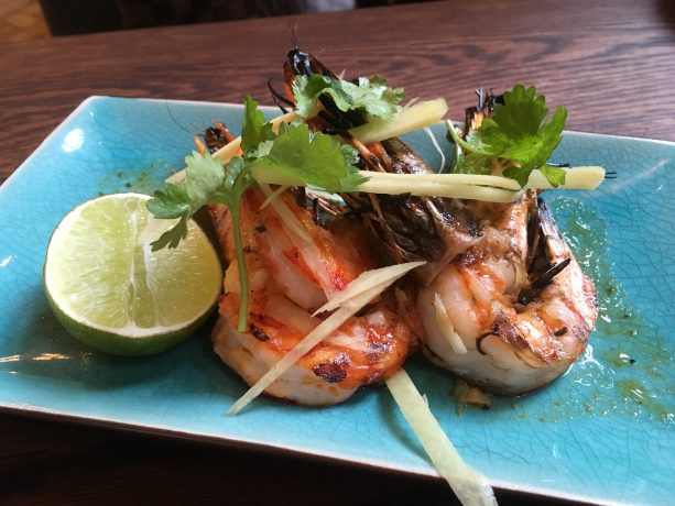 Tiger Prawns, chilli, lime butter