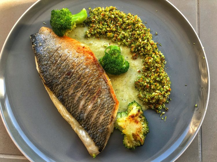 Sea Bream, Pistachio, Broccoli